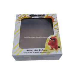 Bonecos de papelão dobrável impresso personalizado de Embalagem Caixa de brinquedos com Pet/Janela de PVC