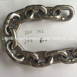 SS304 SS316 ステンレススチールリンクチェーン 5mm 6mm 8mm 10mm DIN5685A/C DIN763 DIN766 韓国標準ステンレス鋼リンクチェーン