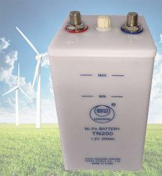 35 años de vida níquel Hierro 12V 200ah 250ah ciclo profundo Batería solar de níquel-hierro para paneles solares