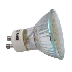 China CE RoHS LED de vidrio Diámetro Spotlight COB / SMD MR16 de 5W LED GU10 Spotlight