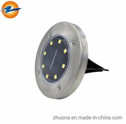 Illuminazione sotterranea alimentata solare solare esterna della lampada LED dei 8 delle lampade sepolta LED LED del LED del giardino del prato inglese indicatori luminosi LED dell'indicatore luminoso