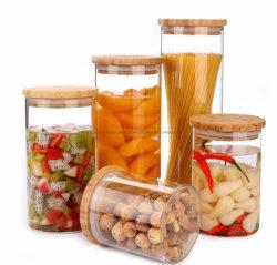 مصنع تصنيع المعدات الأصلية (OEM) أدوات المطبخ الزجاجية مباشرة دورق زجاجي دورق زجاجي دورق زجاجي مع القشة، جراب واقٍ من السيليكون، غطاء من مادة البامبو، مادة BPA