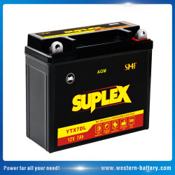 Ytx7dl SLA/AGM/Mf Motorcycle-Battery VRLA para moto/bicicleta/Scooter/ATV/Electric-Power-generador 12V7ah