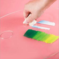 Custom acrilico trasparente artista Mix colore vernice ovale palette per acquerello, propilene, pittura ad olio