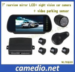 7inch Car Rear View Mirror Parking System