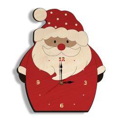 Weihnachtskind-Schlafzimmer-Weihnachtsgeschenk-hölzerner Weihnachtsmann-Innendekoration-Wand-Taktgeber