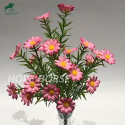 أفضل بيع صغيرة زهرة الأقحوان لالديكور المنزلي البلاستيك بالجملة زهور في الخارج