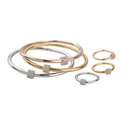 Diseño simple de tres piezas Bangle Bracelet Bisutería Set
