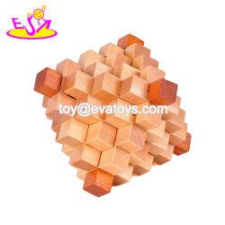 Cadeau promotionnel 3D jeu de puzzle en bois de blocage du cerveau pour les enfants W11C034