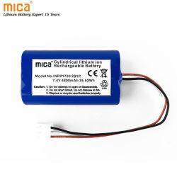 De Batterij van het Lithium van de Levering van de fabrikant 7.4V 4800mAh 21700 Li-Ion Batterij 2s1p met Inr 21700 van LG M48e Cellen