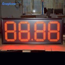 عرض سعر الغاز الممتاز/ لوحة توقيع سعر الغاز المكون من رقمين مؤشر LED الرقمي 20 بوصة علامات أسعار الغاز