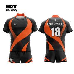 تصميم مخصص للشحن السريع تصميم فرقلاتي لارتداء الفريق مصمم نادي رياضي قميص الرجبي