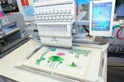 高速は20本の針ヘッドフラットキャップのTシャツの刺繍によってコンピュータ化される帽子のミシンの編む刺繍の機械装置を選抜する