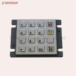 مقاومة التخريب Ik08 تشفير لوحة PIN باستخدام 16 مفتاحا معدنية
