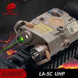O elemento mais recentes Airsoft Lanterna Laser Verde e IR UPH Lightb La-5c peq para Noite Caça EX419