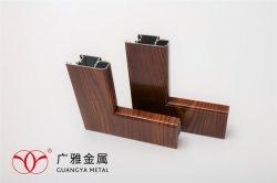Ventana de aluminio China-Made perfiles de acabado de madera