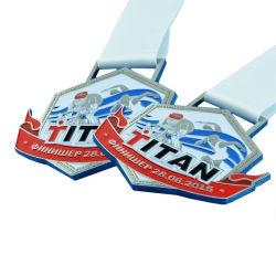 Zinc Métal personnalisée bon marché de gros 3D Or/Argent/course marathon Vierge/Racing/Boxing/Nepean aviron/Football Gymnastique/école/récompenses Médailles sportive