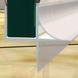 PVC X-Form 1000mm Länge für 10mm Glas Duschtür Wasser Dichtung