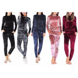 Nuevos productos de otoño otoño caliente Legging trotar Conjunto 2020 ropa de mujer dos piezas de terciopelo