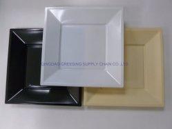 Wegwerfessgeschirr-Tafelgeschirr der Wegwerfquadratischen Plastikplatten-9inch