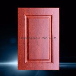 シェーカーデザインPVCフィルム熱ホイルMDFの食器棚のドア