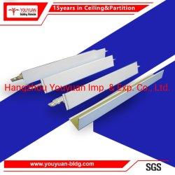 Placa de yeso de PVC Sistema de techo suspendido la cuadrícula de la barra de T