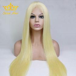 Blonde 613 прямо 100% прав Реми волосы Glueless кружева/полного кружева Wig
