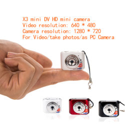 X3 HD portátil Micro Pocket Video Audio Mini Cámara Digital Videocámara 480p DV DVR Grabador de conducción PC Web Cam