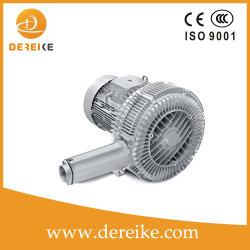 Dhb 920c 12D5 12.5KW Dereike etapa doble de alto flujo de aire bomba de vacío de canal lateral para la recolección de polvo y la entrega de material y transporte neumático