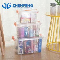 Mejores productos de plástico de alta calidad 6L Underbed Caja de almacenamiento de plástico caja de zapatos de caja de regalo juguetes caja con la mano