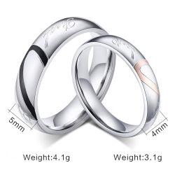 2017 Jóias de casais Personalizado Clássico Anel de casamento com banho de ouro