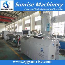 UPVC plástico HDPE PE PP PPR PVC Tubo de agua de alimentación eléctrica del tubo de drenaje del conducto de la producción de extrusión de tubo corrugado que hace la máquina