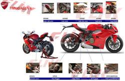 Ducati Panigale V4를 위한 탄소 섬유 기관자전차 부속 부속의 전 세트