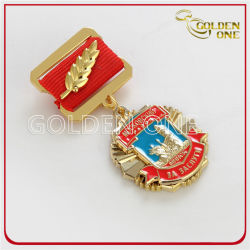 تذكار مخصص هدية ذهبية منقوشة ثلاثية الأبعاد بعتاد معدني عسكري