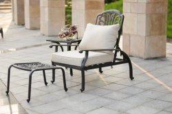 Открытый регулируемый Sun шезлонге мебель из литого алюминия шезлонгами шезлонге