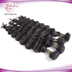 Commerce de gros prix d'usine vierge lâche malaisien des cheveux bouclés