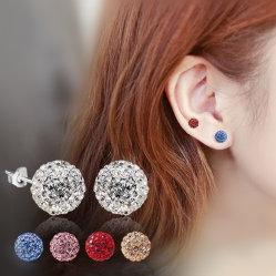 Nouveau Earrings Bijoux en gros ballon Shambala semoir plein clignotant Ball Earrings Super goujon de l'oreille