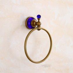 Flg serviette antique anneau fixé au mur des accessoires de toilette
