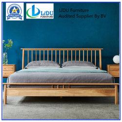 Lit en bois massif de meubles en chêne lit chambre moderne en chêne massif antique en bois de style français classique lit double
