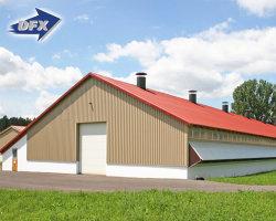 Große Stahlkonstruktion Hühnerhaus Baudesign Geflügelfarmen Schuppen