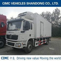 Cimc 4*2 ShacmanシャーシおよびRefrigeratorによって熱王冷やされているトラックが付いている絶縁体ボックス