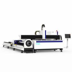 Tagliatrice del laser della fibra del tubo e del piatto del metallo con l'unità rotativa