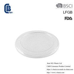 Tapas transparentes de plástico desechables, Lámina vasos, ollas de aluminio Tapas contenedor