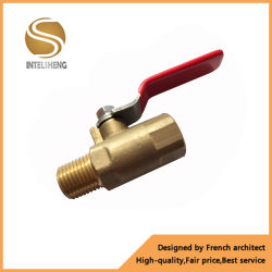 1/8, 1/4, 3/8 NPT Válvula de Esfera de latão pneumáticas para óleo de ar água TFB-020-05 (gás)
