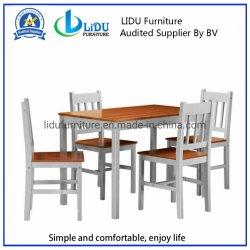현대 단단한 소나무 식탁은 가구 고대 나무로 되는 의자 다방을 식사하는 2/4의 의자 부엌으로 놓았다