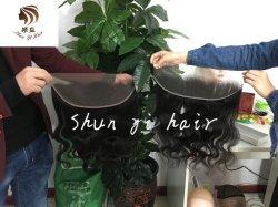 Hochwertige HD Spitze-frontale transparente Spitzefrontale Schweizer Brown-Spitze-frontaler natürlicher Haarstrich