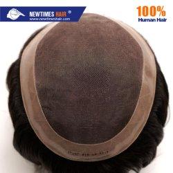 Mono Con Rivestimento Perimetrale In Pu E Doppio Merletto Frontale Indian Human Hair Replacement