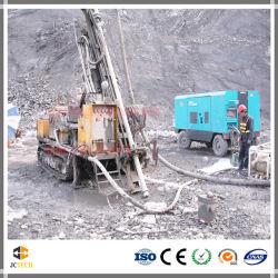 Macchina estraente montata cingolo della piattaforma di produzione del pozzo trivellato d'inversione idraulico di circolazione DTH per la prova del terreno