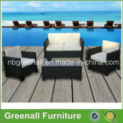 vimine del rattan di stile di 4PCS Kd per la mobilia stabilita del sofà domestico di conservazione esterno dell'hotel