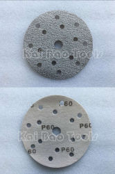 白い酸化アルミニウムディスク砂のペーパー